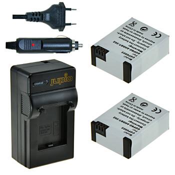 Jupio 2x Battery GoPro AHDBT-302 HERO3+ 1200 mAh