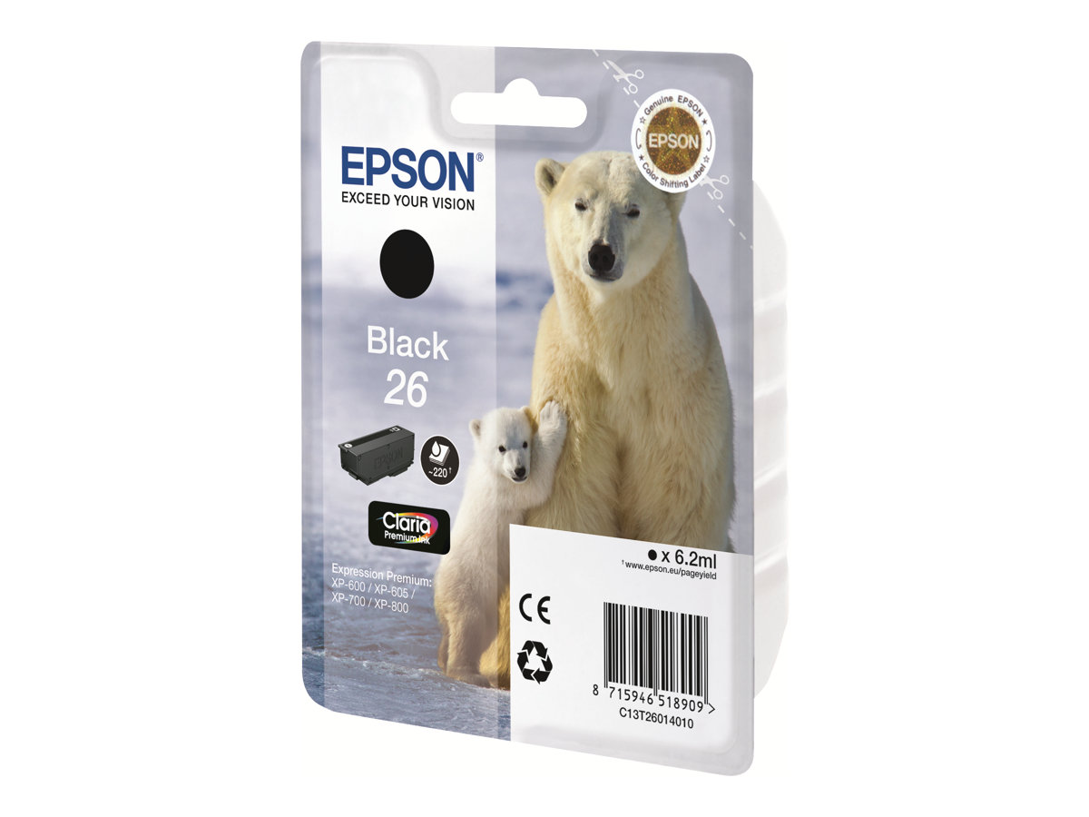 Epson SINGLEPK PHOTO BLACK 26 CLARIA