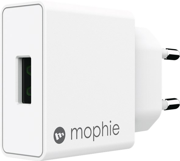 Mophie Wall Adapter Usb-A-18W, Eu, White