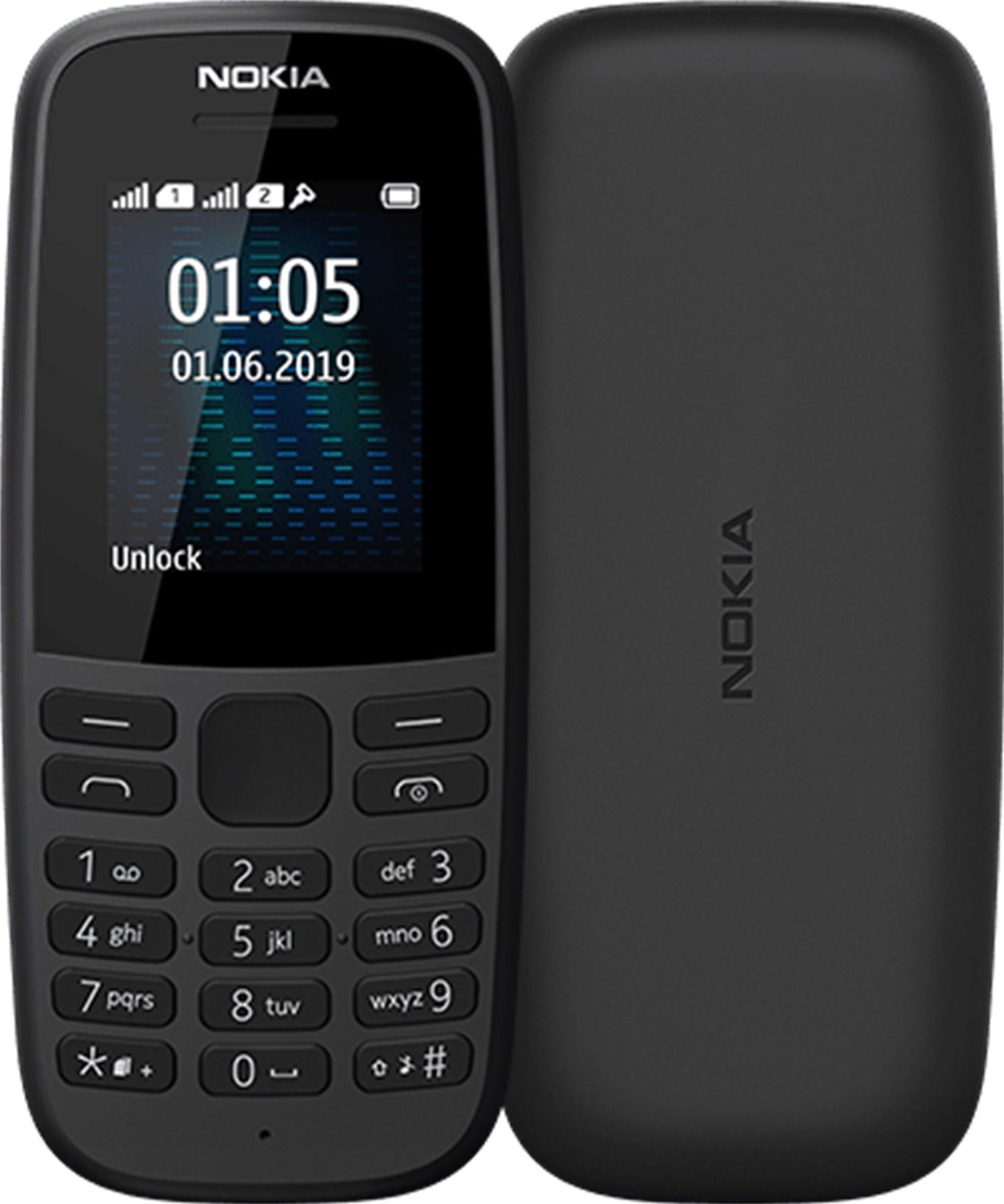 Nokia 105 Dualsim 2019 Black