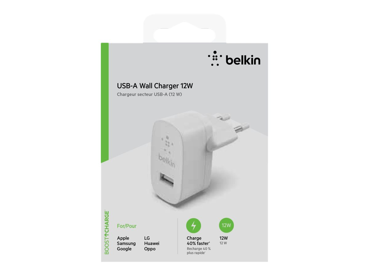 Belkin Single Usb-A Wall Charger 12W White